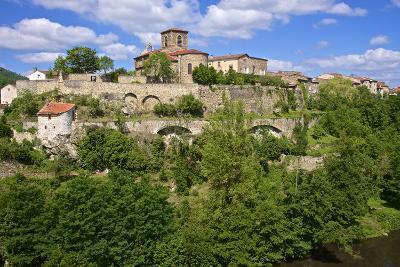 Perched Medieval Village, Haute Loire-Guy Thouvenin-Photographic Print