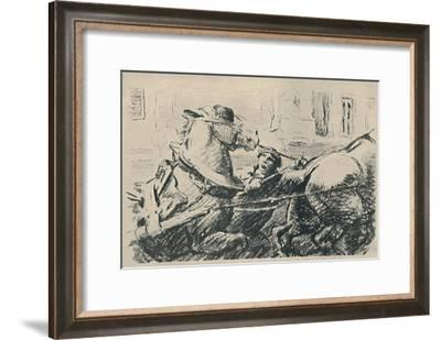 'Percheron Horses', 1919-Lowes Dalbiac Luard-Framed Giclee Print
