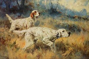 Two Setters by Percival L^ Rosseau