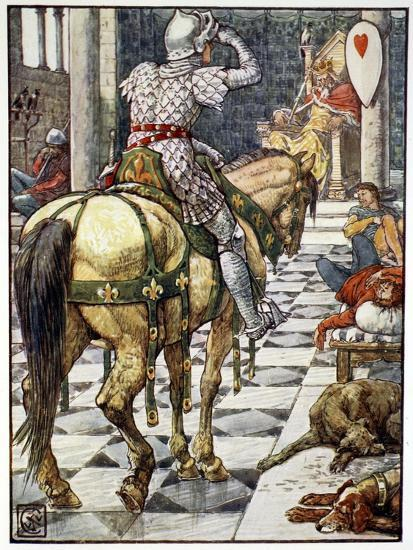 'Percival Obtains the Shield of the Beating Heart', 1911-Unknown-Giclee Print