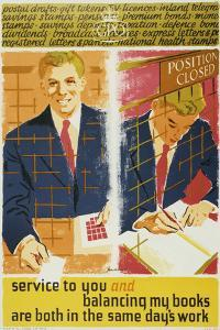 Service to You and Balancing My Books are Both in the Same Days Work by Percy Brookshaw
