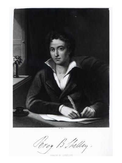 Percy Bysshe Shelley, Engraved by William Holl-Amelia Curran-Giclee Print