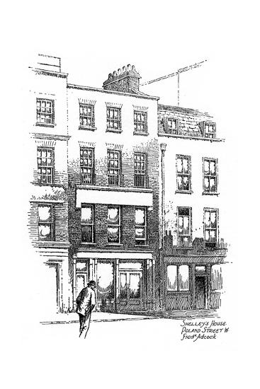 Percy Bysshe Shelley's House, Poland Street, Borough of Westminster, London, 1912-Frederick Adcock-Giclee Print