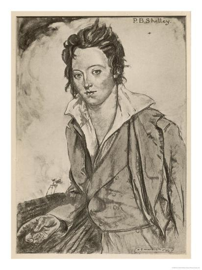 Percy Bysshe Shelley Writer-A.s. Hartrick-Giclee Print