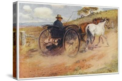 Postman in His Mail-Cart in the Australian Outback