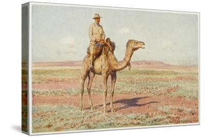 Surveyor on Camelback Reconnoitres the Route for the Trans-Continental Railway