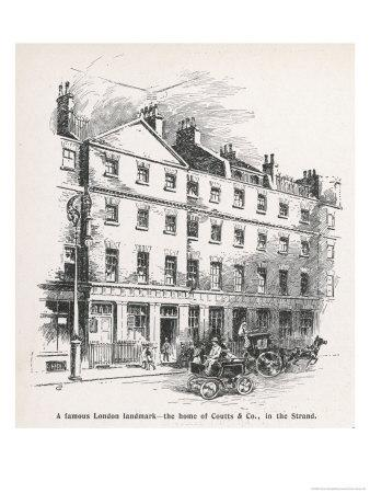 The Home of the Bank Coutts and Co in the Strand London