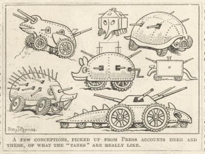 Selection of Tanks Shaped Like Animals