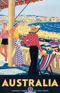 Australia Beach c.1929 by Percy Trompf