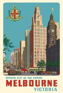 Melbourne, Victoria Australia - Seventh City of the Empire by Percy Trompf