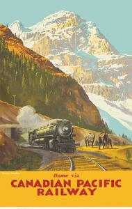 Mount Stephen, British Columbia - Home via Canadian Pacific Railway by Percy Trompf