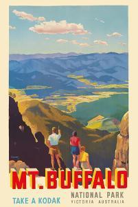 Mt. Buffalo National Park - Victoria, Australia - Take a Kodak - Victorian Railways by Percy Trompf
