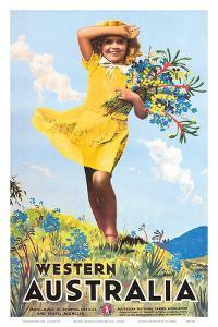 Western Australia, Flower Girl c.1936 by Percy Trompf