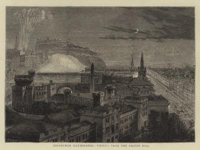 Edinburgh Illuminated, Viewed from the Calton Hill