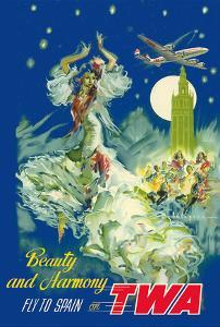 Spain - Beauty and Harmony - Fly to Spain on TWA (Trans World Airlines) by Pere Clapera