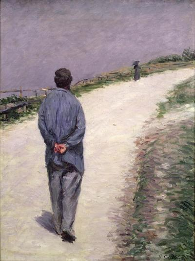 Pere Magloire on the Road to Saint-Clair, Etretat, 1884-Gustave Caillebotte-Giclee Print