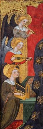 Madonna with child and angels making Music (Detail). Ca. 1385