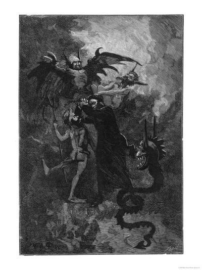 Pere Surin, Sent to Exorcise the Demons Plaguing the Nuns of Saint-Ursule--Giclee Print