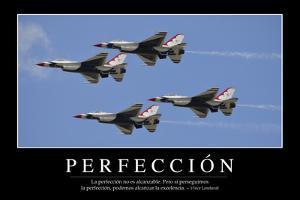 Perfección. Cita Inspiradora Y Póster Motivacional