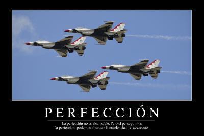 Perfección. Cita Inspiradora Y Póster Motivacional--Photographic Print