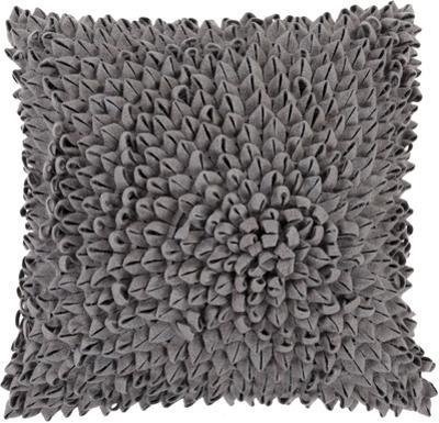 Perfect Petal Poly Fill Pillow - Grey