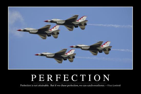 Perfection: Inspirational Quote and Motivational Poster--Photographic Print
