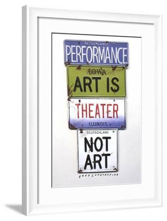 Performance Art-Gregory Constantine-Framed Giclee Print