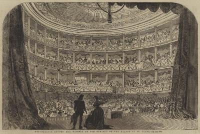 Performance before Her Majesty in the Theatre of the Palace of St Cloud--Giclee Print