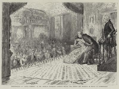 Performance of David Garrick by Mr Charles Wyndham's Company before the Prince and Princess of Wale-Sydney Prior Hall-Giclee Print