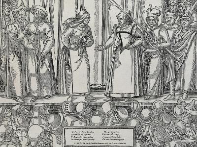 Performance of Farce in Parisian Theatre, 16th Century--Giclee Print
