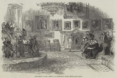 Performance of the Oedipus, at Buckingham Palace, before Her Majesty--Giclee Print