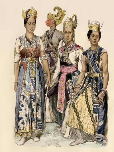 Performers of Java in Traditional Costumes--Giclee Print