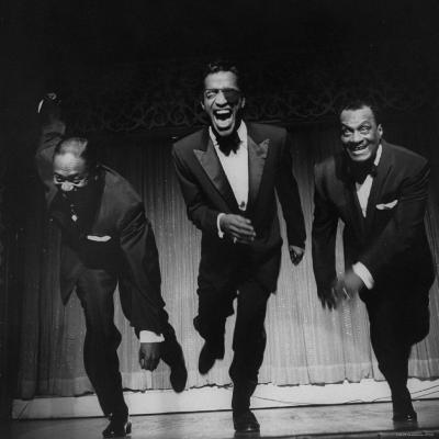 Performers, Sammy Davis Sr, Sammy Davis Jr, and Will Mastin, Together on Stage at Ciro's Dancing-Allan Grant-Premium Photographic Print