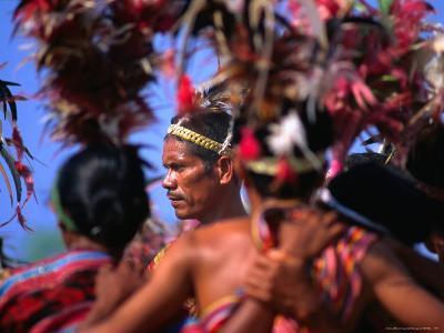 Performing of Timorese Dance, Dili, East Timor-John Banagan-Photographic Print