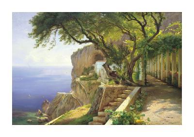 Pergola in Amalfi-Carl Frederic Aagaard-Giclee Print