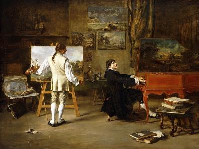 Pergolese in the Studio of Joseph Vernet, 1880-Lucien Alphonse Gros-Giclee Print