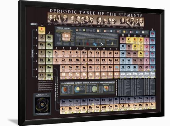 Periodic Table Chart - ©Spaceshots--Framed Art Print