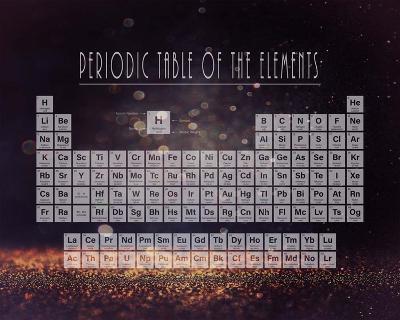 Periodic Table Gold Dust - Purple-Color Me Happy-Art Print