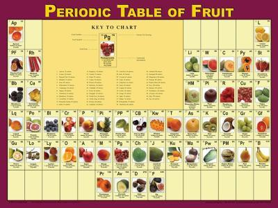 Periodic Table of Fruits Poster--Laminated Poster