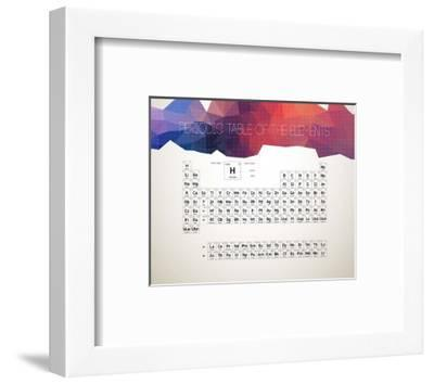 Periodic Table Of The Elements Abstract Low Poly Shape-Color Me Happy-Framed Art Print