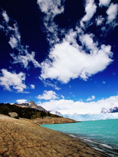 Perito Moreno Glacier and Moreno Hill, Lago Argentino, Los Glaciares National Park, Argentina-Michael Taylor-Photographic Print