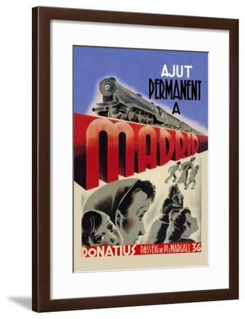 Permanent Route to Madrid--Framed Art Print