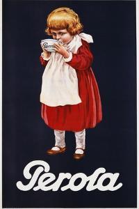 Perola Hot Chocolate Advertisement Poster