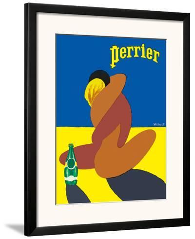 Perrier: Nude Lovers, c.1980-Bernard Villemot-Framed Giclee Print