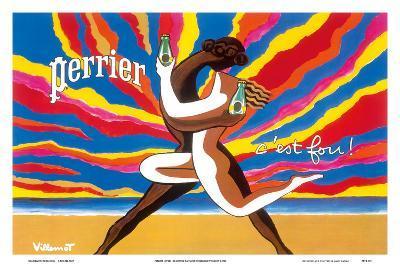 Perrier - The Dancing Couple (Le Couple Dansant) - This is Crazy! (C'est Fou!)-Bernard Villemot-Art Print