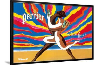 Perrier - The Dancing Couple (Le Couple Dansant) - This is Crazy! (C'est Fou!)-Bernard Villemot-Framed Giclee Print