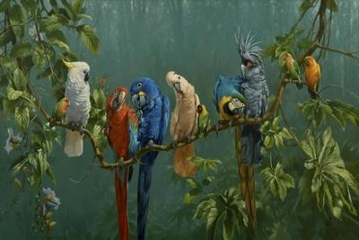 Perroquets-Michael Jackson-Giclee Print