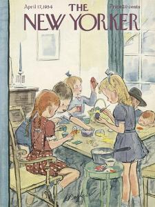 The New Yorker Cover - April 17, 1954 by Perry Barlow