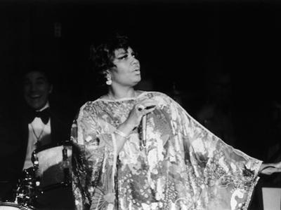 Legendary Performer Pearl Bailey Dazzles Her Audience, 1975 by Perry Harmon