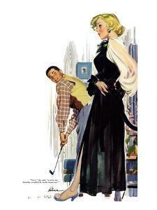 """No Man Around The House  - Saturday Evening Post """"Leading Ladies"""", August 13, 1955 pg.31 by Perry Peterson"""